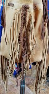 Leather Fringe Handbag NWOT